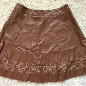 New! Brown Pleather Skirt